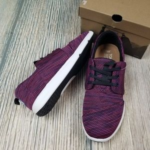 New TOMS womens dark purple del rey knit sneakers